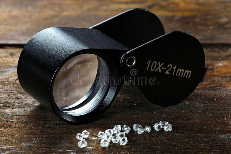 Diamanti grezzi 04 immagine stock