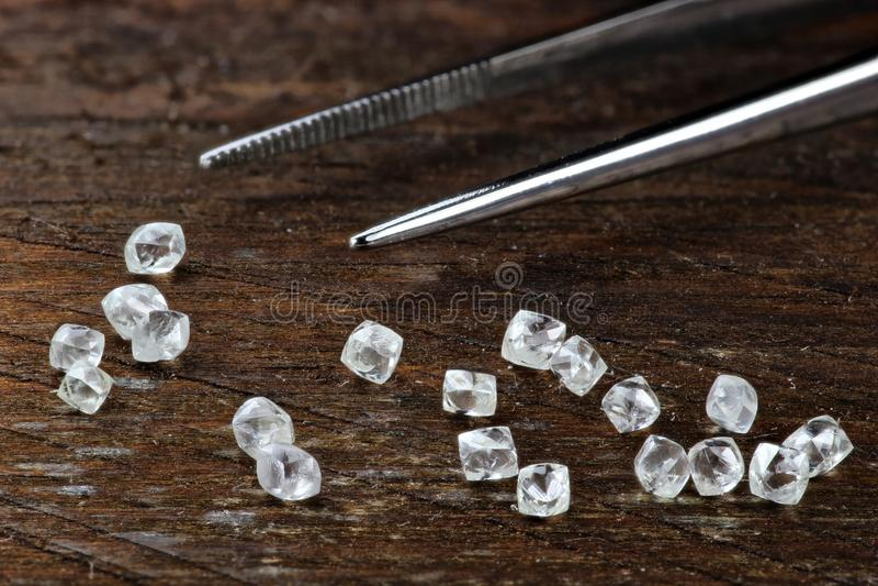 Diamanti grezzi 05 fotografie stock libere da diritti