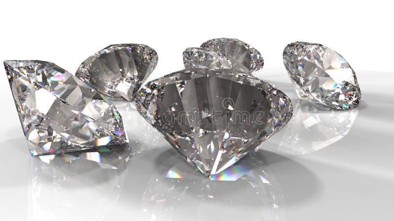 Diamanti jewely su fondo L'alta qualit? 3d rende illustrazione di stock