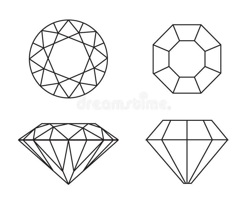 Diamanti su priorità bassa bianca royalty illustrazione gratis