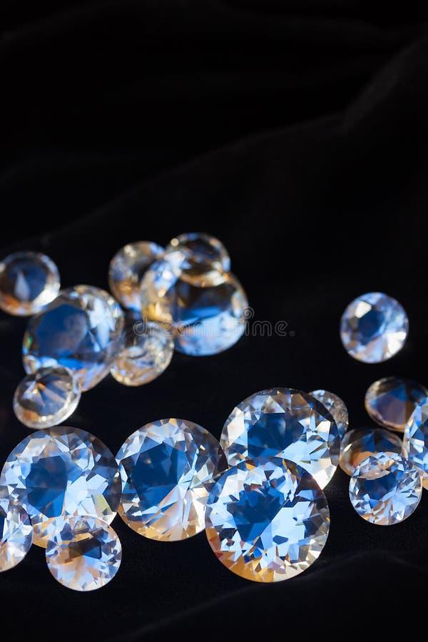 Diamanti sul nero fotografia stock libera da diritti