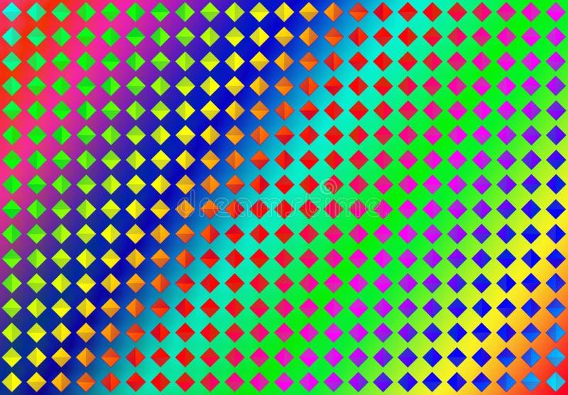 Diamanti variopinti senza cuciture dell'estratto nel fondo di colori dell'arcobaleno royalty illustrazione gratis