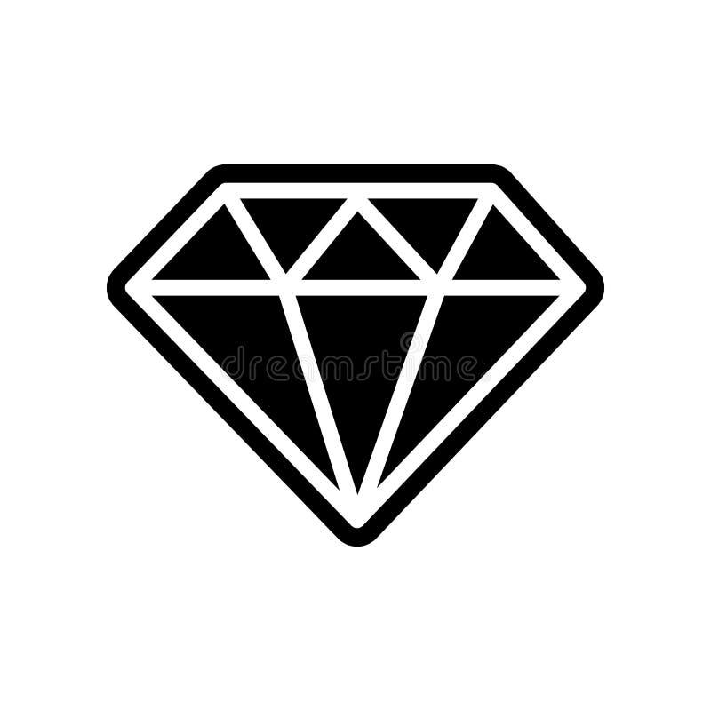 Diamantikone Element der Finanzierung f?r bewegliches Konzept und Netz Appsikone Glyph, flache Ikone f?r Websiteentwurf und Entwi stock abbildung