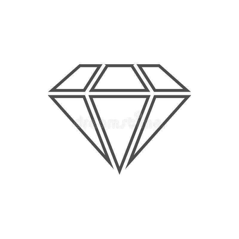 Diamantikone Element der Internetsicherheit für bewegliches Konzept und Netz Appsikone Dünne Linie Ikone für Websitedesign und -e lizenzfreie abbildung