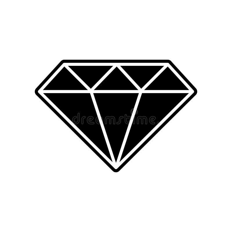 Diamantikone Element des Kasinos f?r bewegliches Konzept und Netz Appsikone Glyph, flache Ikone f?r Websiteentwurf und Entwicklun lizenzfreie abbildung