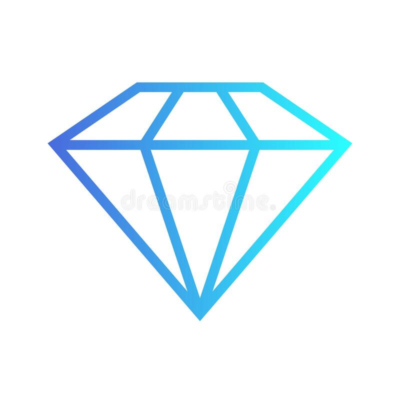 Diamantikonen eingestellt, flaches Design lizenzfreie abbildung