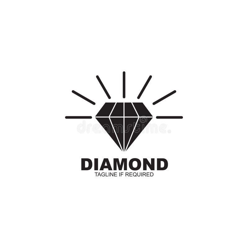 Diamantikonenlogoentwurfsinspirations-Vektorschablone stock abbildung