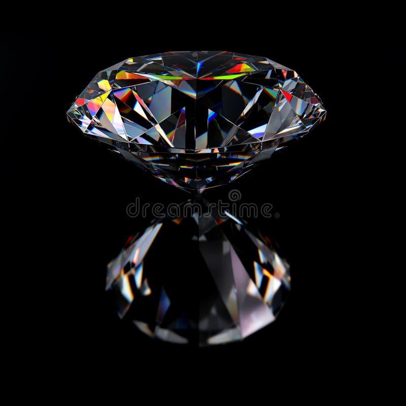 Diamantjuvel med reflexioner vektor illustrationer