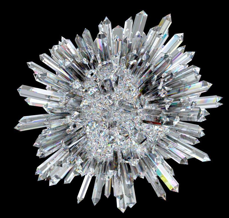 Diamantkugel mit akuten Spalten stock abbildung