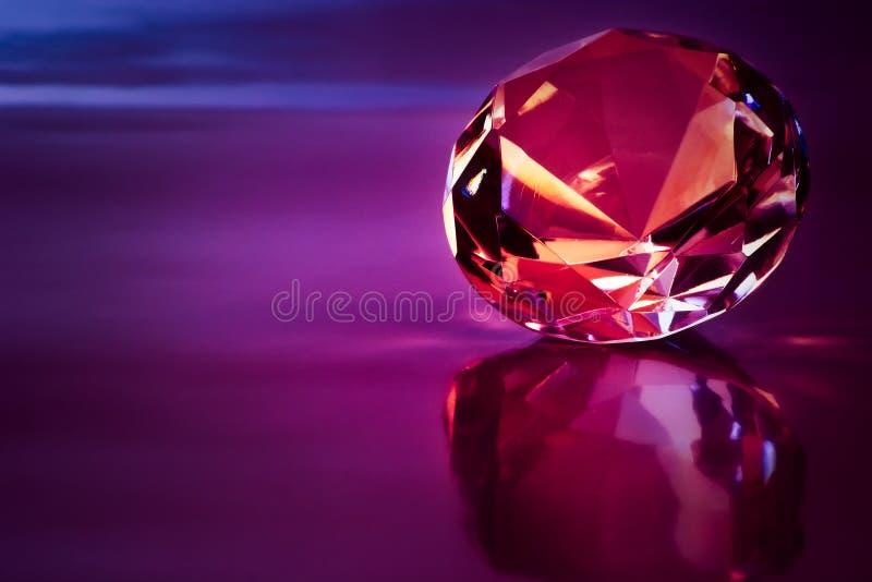 diamantlampa - purple arkivbild