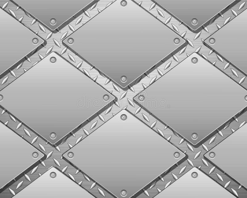Diamantmetallhintergrund und -platten lizenzfreie abbildung