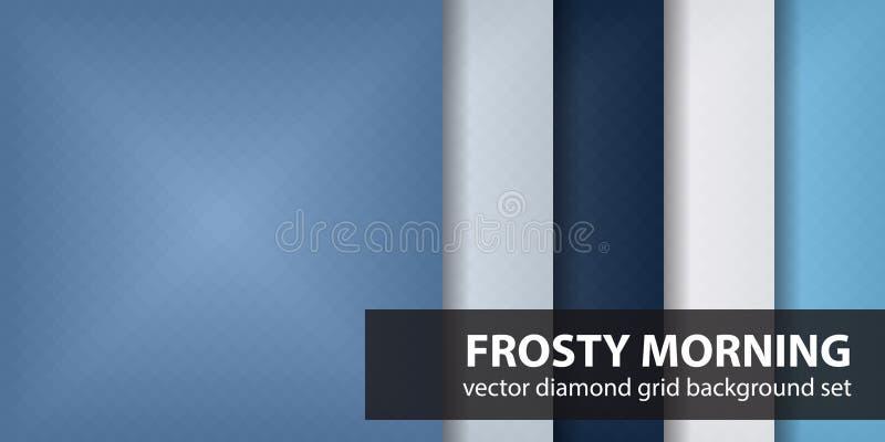 Diamantmodelluppsättning Frosty Morning Geometriska bakgrunder för vektor royaltyfri illustrationer