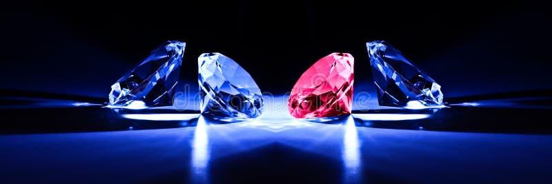 Diamantnahaufnahmemetapher lizenzfreie stockfotos