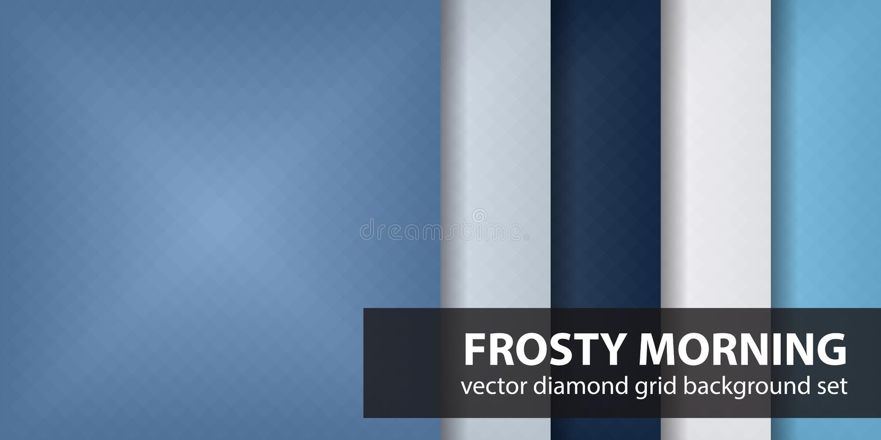 Diamantpatroon vastgesteld Frosty Morning Vector geometrische achtergronden royalty-vrije illustratie