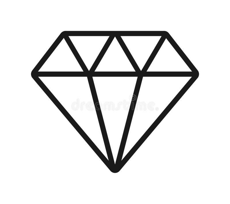 Diamantpictogram stock illustratie