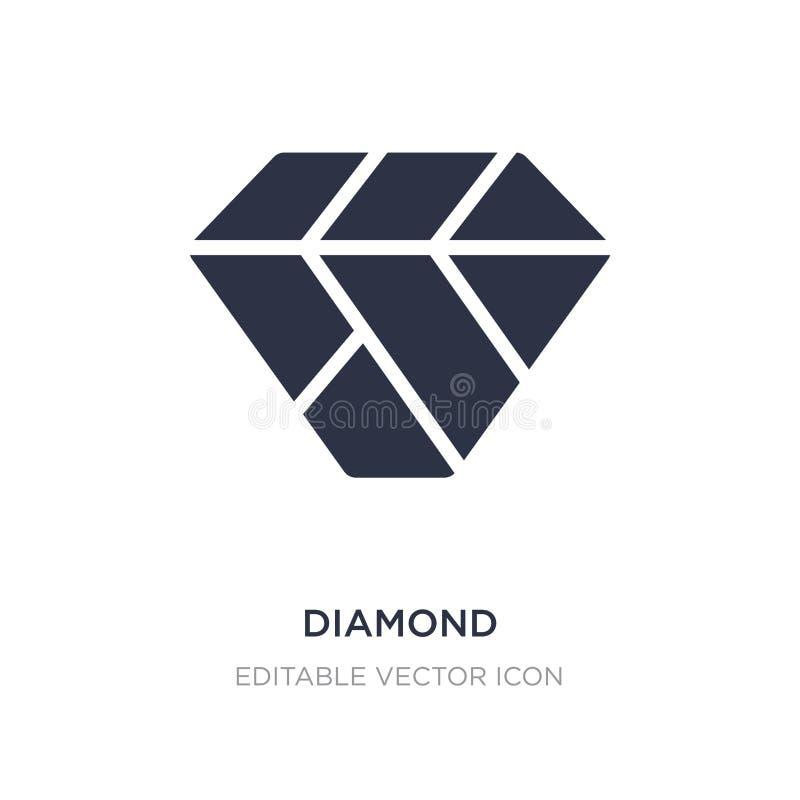 Diamantpictogram op witte achtergrond Eenvoudige elementenillustratie van Manierconcept stock illustratie