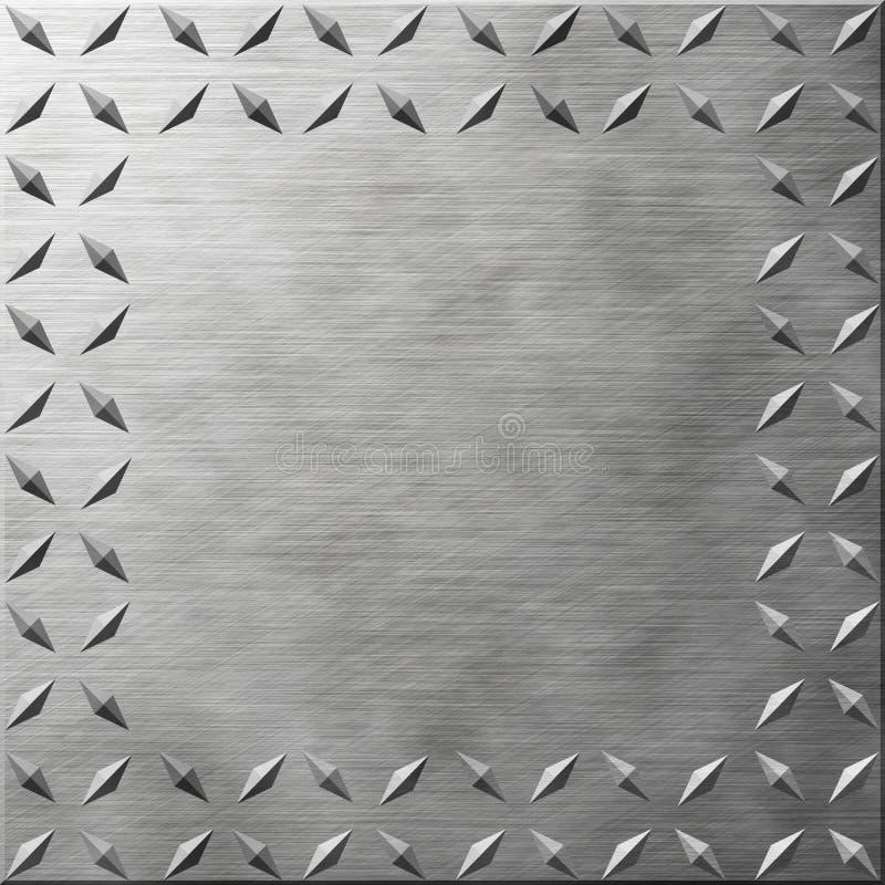 diamantplatta royaltyfri illustrationer