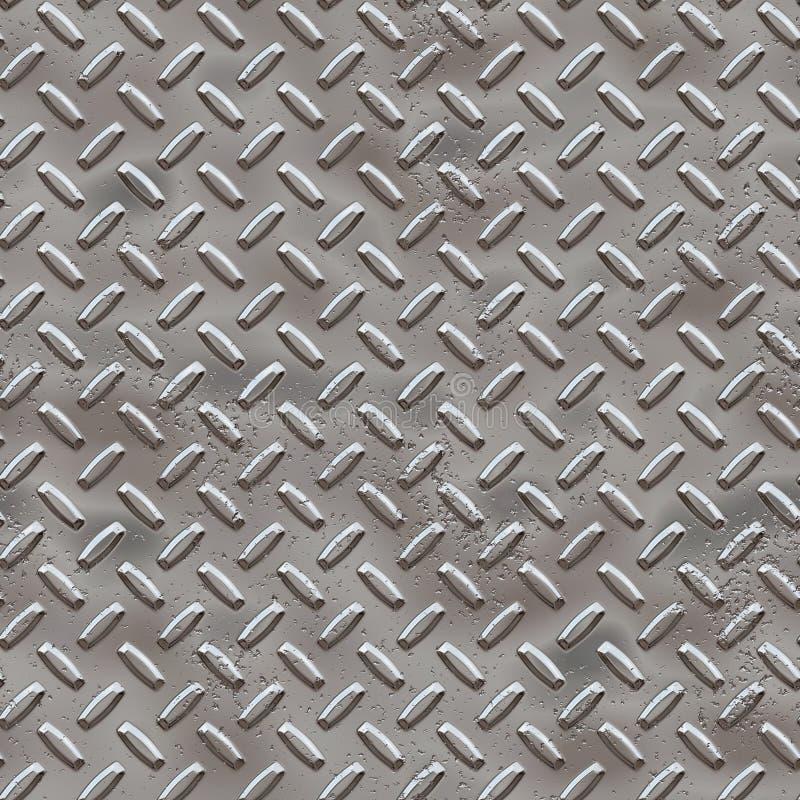 Diamantplatte mit Korrosion (Rost) stock abbildung