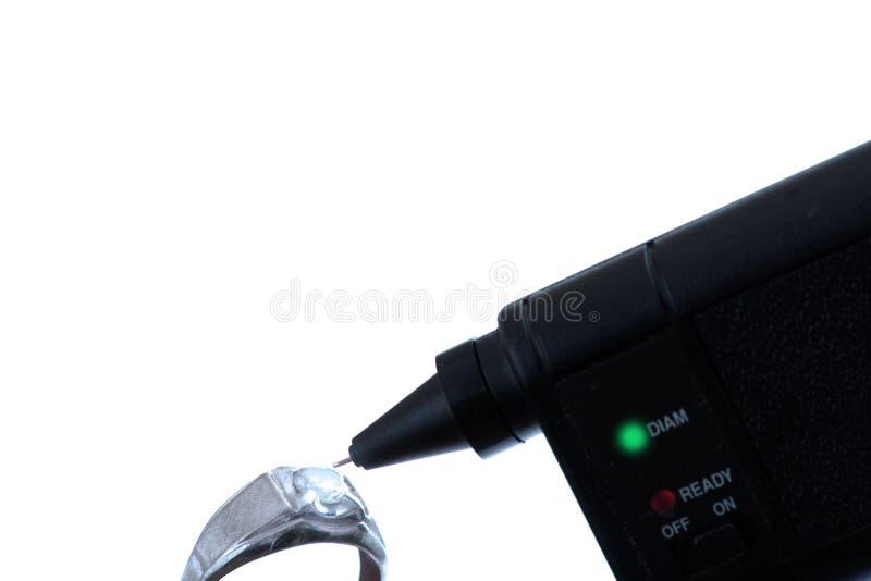 Diamantprüfvorrichtung und -ring lizenzfreies stockbild