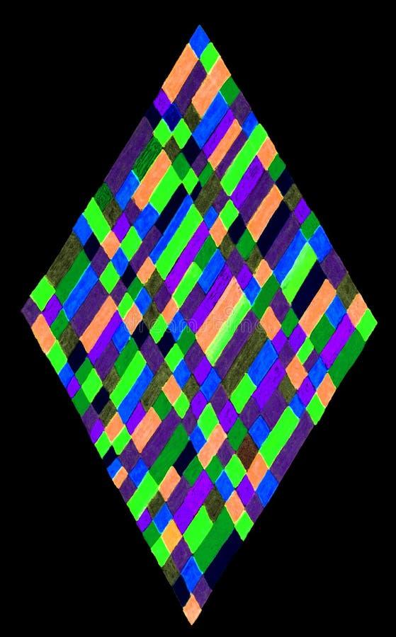 Diamantrektangelillustration royaltyfri fotografi