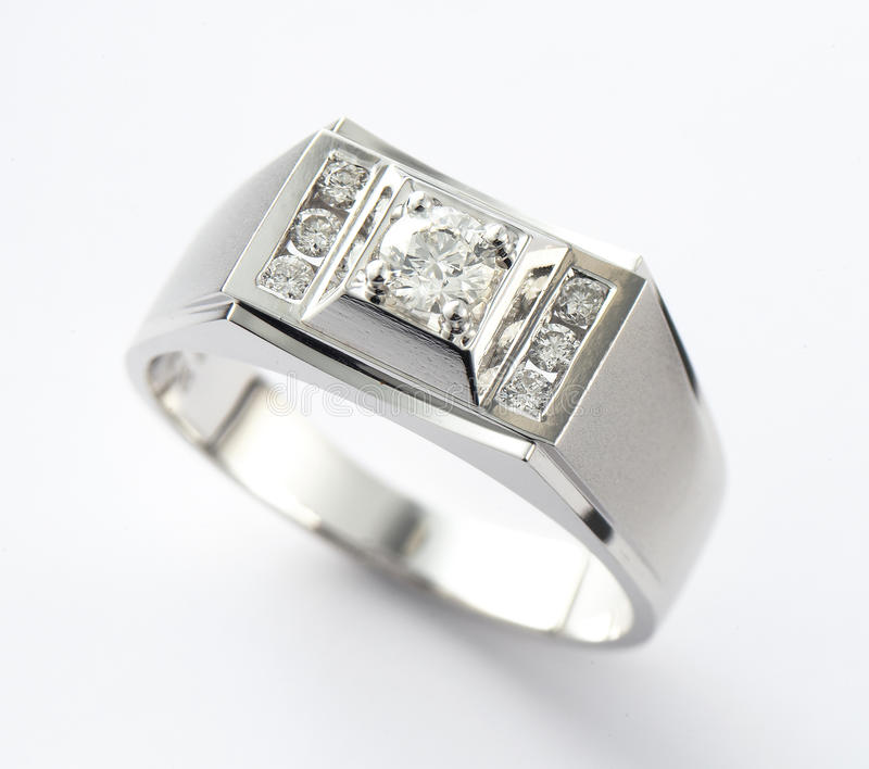 Diamantring stockbilder