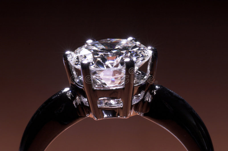 Diamantring stockbild