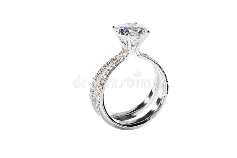 Diamantring stock foto