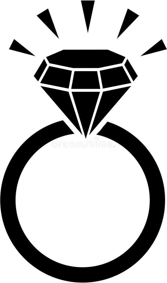 Diamantring met het bling vector illustratie