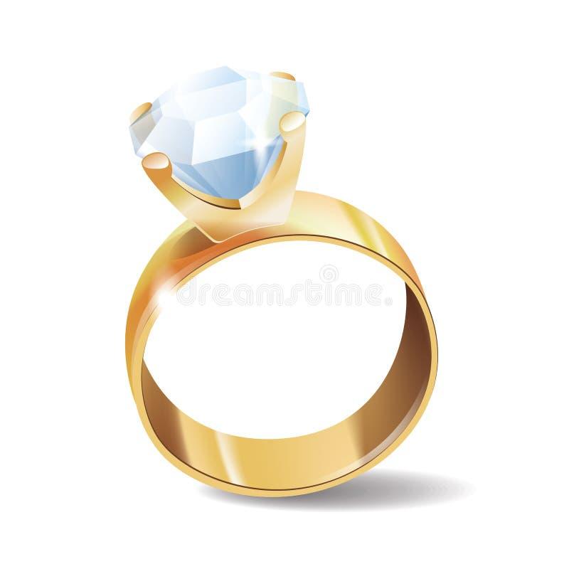 Diamantring-Vektorikone lizenzfreies stockbild