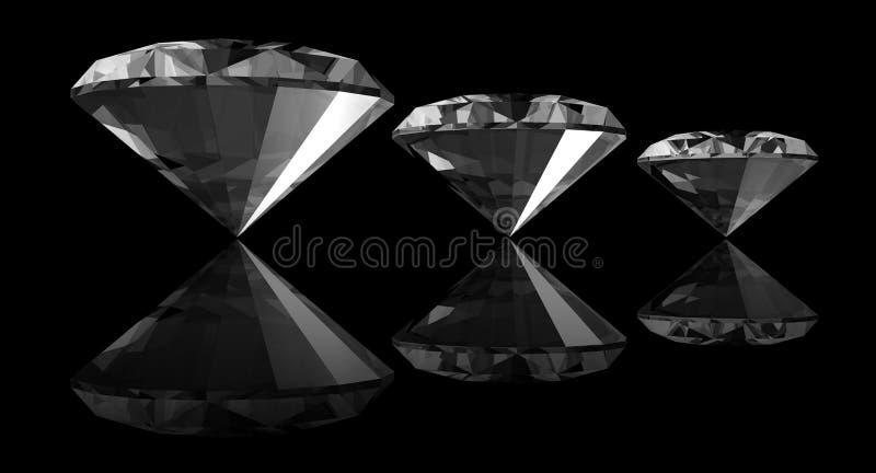 diamants 3d illustration stock