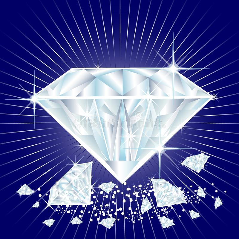 Diamants illustration libre de droits