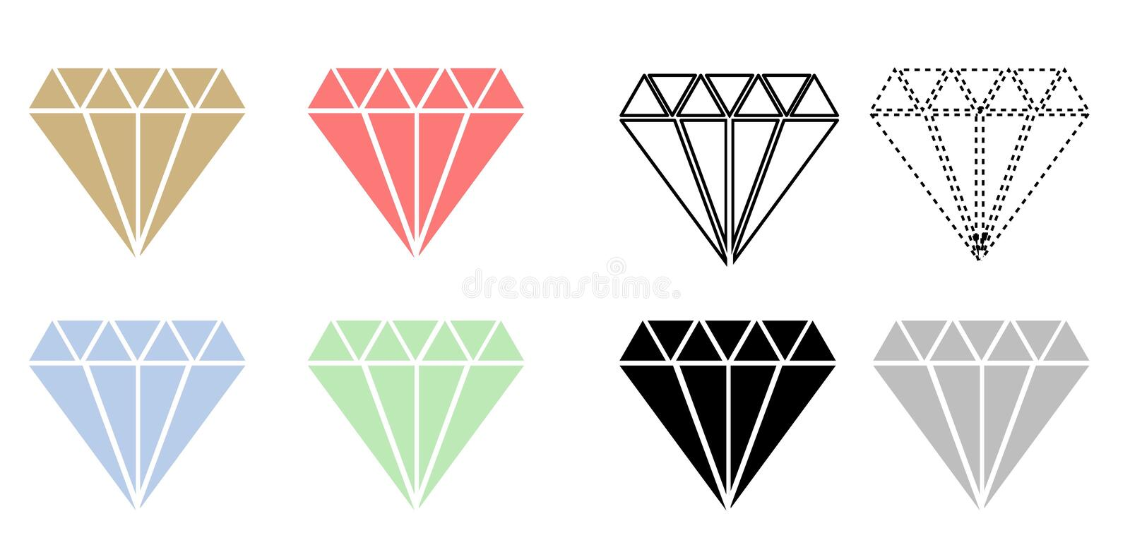 Diamants illustration stock