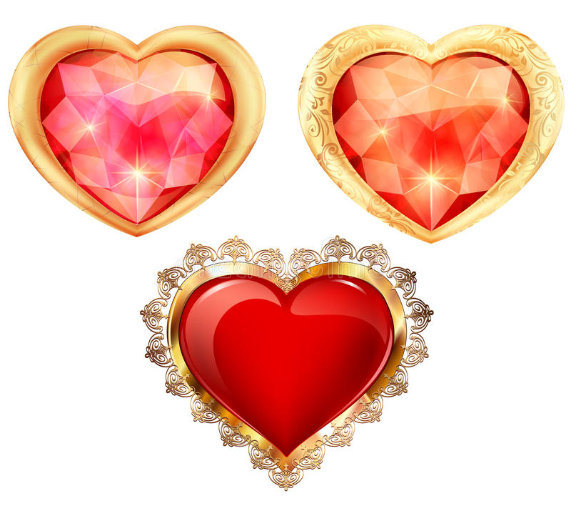 Diamants avec l'éclat des formes et de l'illustration de couleurs différentes illustration libre de droits