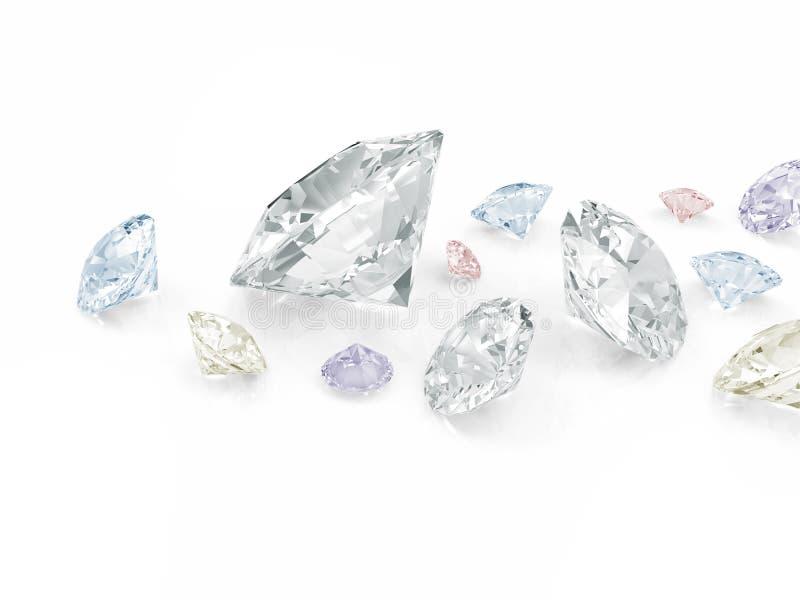 Diamants colorés illustration libre de droits