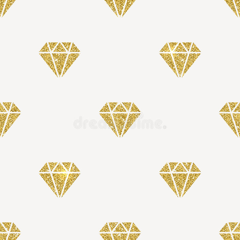 Diamants d'or de scintillement illustration libre de droits