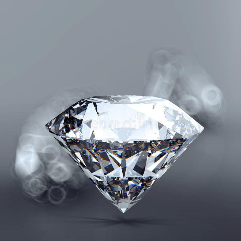 Diamants 3d en composition illustration de vecteur
