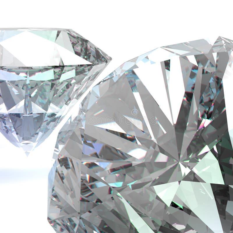 Diamants 3d en composition illustration libre de droits