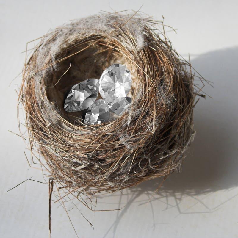 Diamants emboîtés images stock