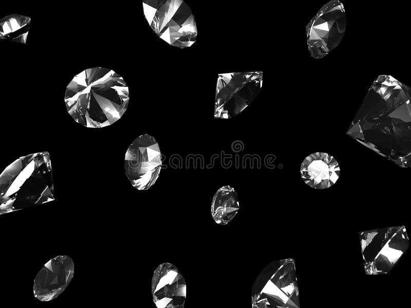 Diamants en baisse illustration de vecteur
