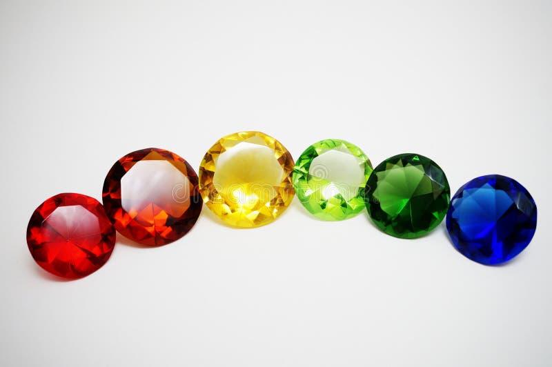 Diamants en verre image libre de droits