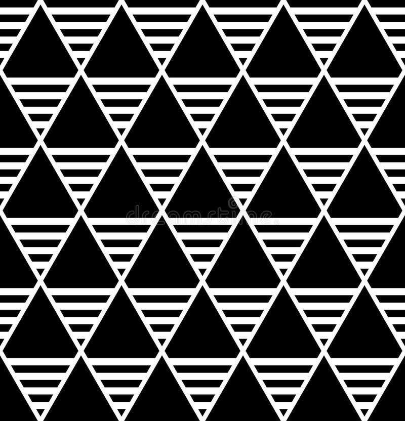 Diamants et modèle sans couture de triangles illustration libre de droits