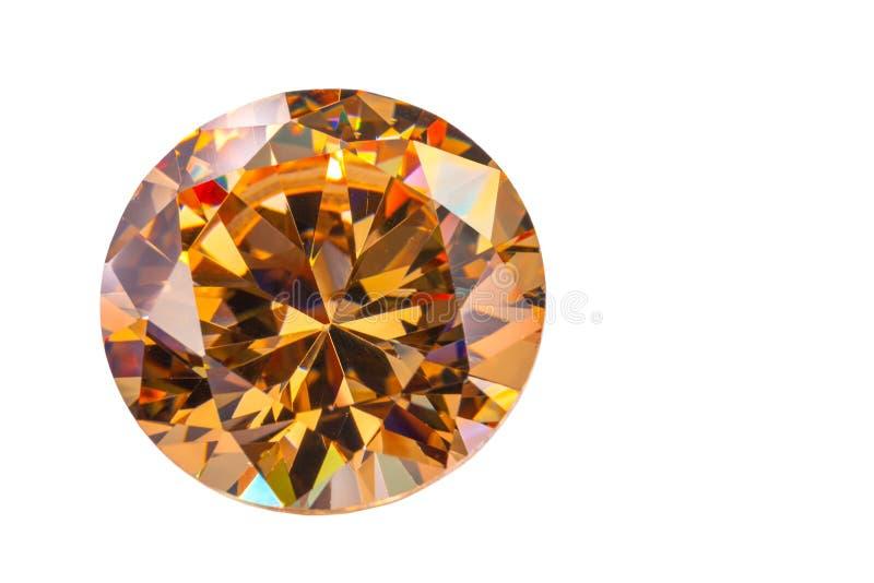 Diamants jaunes de saphir sur le fond blanc photographie stock
