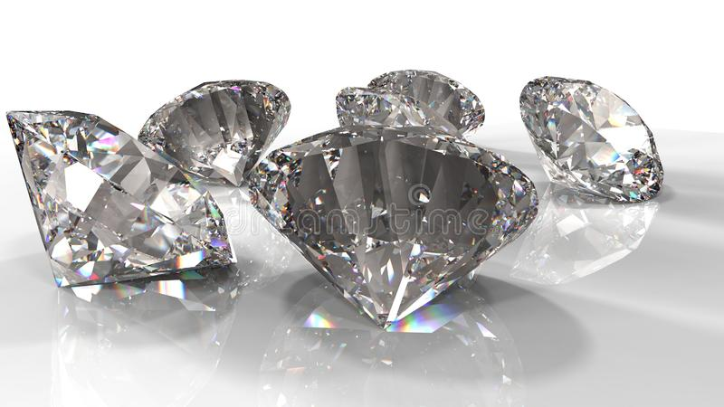 Diamants jewely sur le fond La qualit? 3d rendent illustration stock