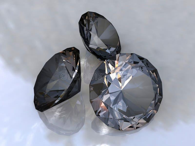 diamants noirs illustration libre de droits
