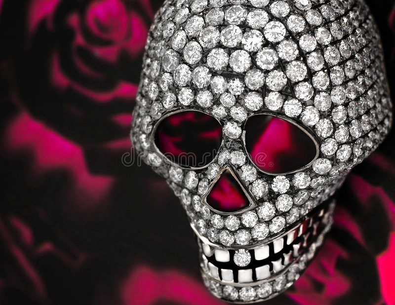 Diamantschädel lizenzfreies stockbild