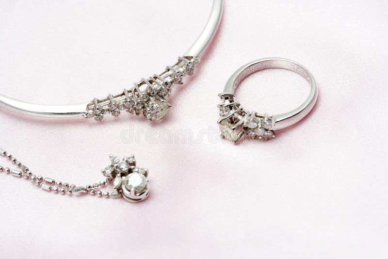 diamantsmycken royaltyfri foto