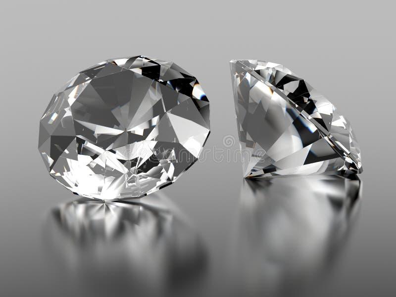 2 diamantsteen stock afbeeldingen