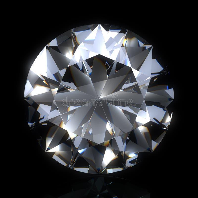 Diamantstein auf schwarzem Platz