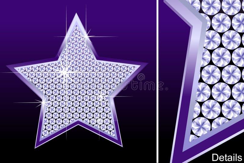 diamantstjärna stock illustrationer