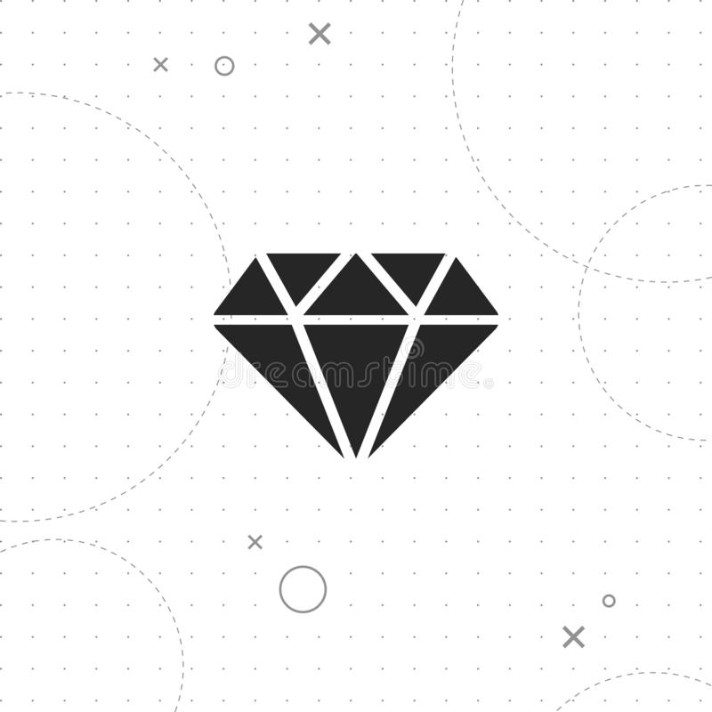 Diamantsymbol vektor illustrationer